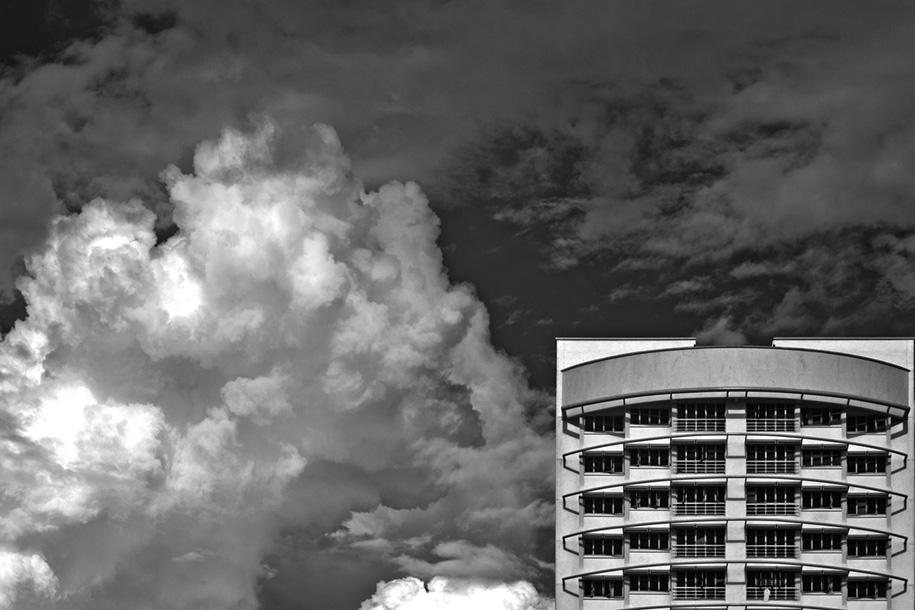 'Building and Clouds in Infrared' (Jul 2011) - Bukit Batok, Singapore