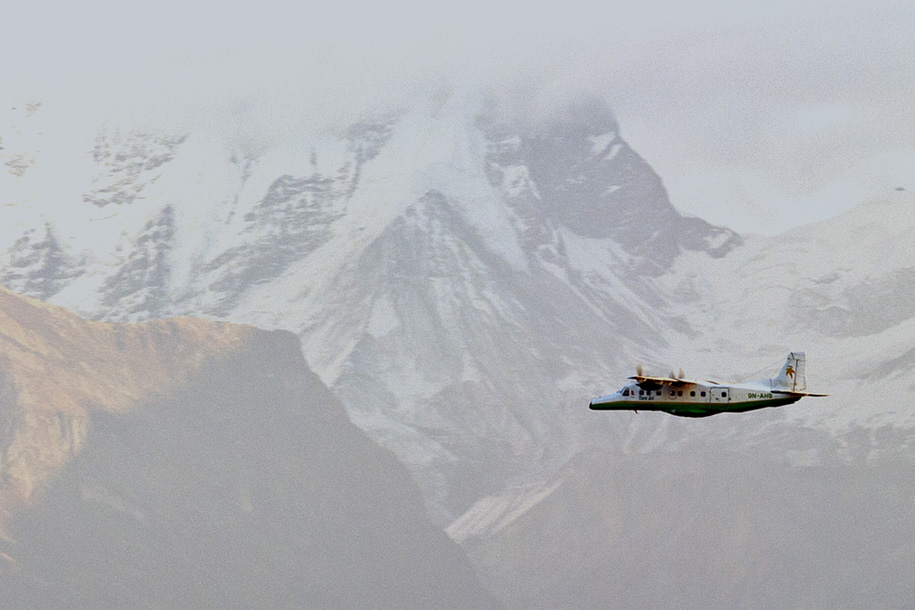 'Flight over Mountains' (Dec 2009) - Sarangkot, Nepal