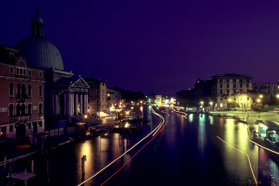 'Grand Canal at Night' (Apr 1987) -  Venice, Italy