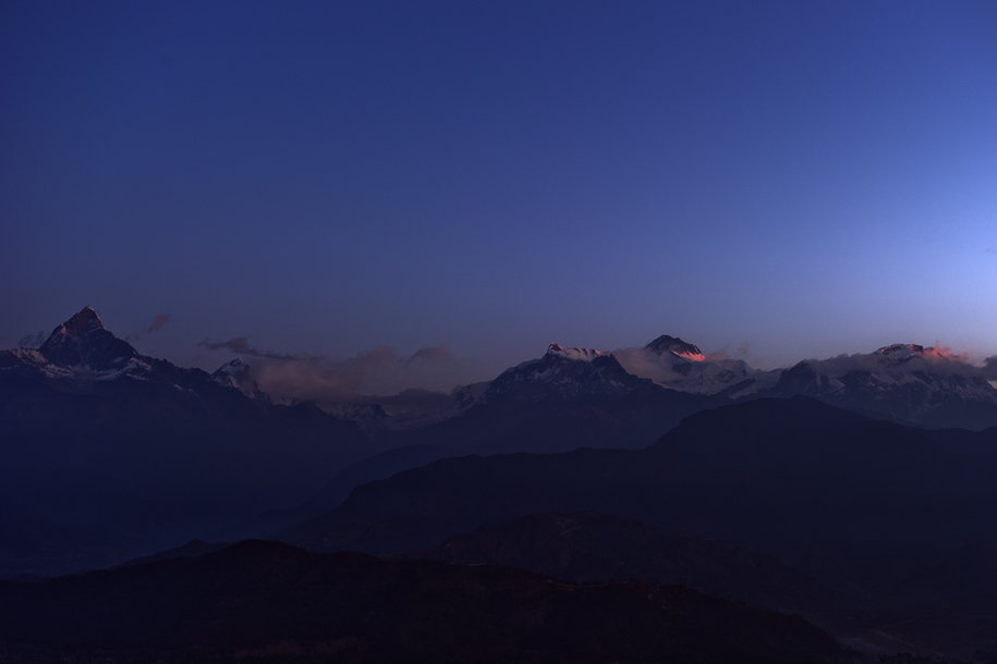 'Annapurna Range at Dawn' (Dec 2009) - Sarangkot, Nepal