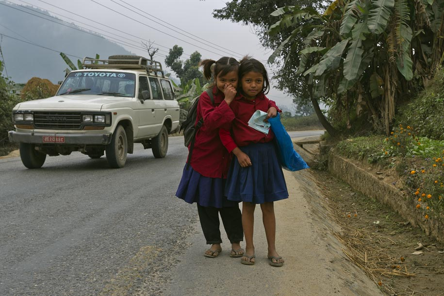 'Shy Girl' (Dec 2009) - Prithvi Highway, Nepal