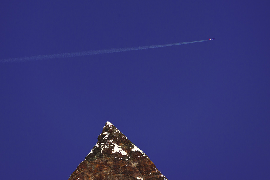 'Plane over Matterhorn' (Jun 2014) - Trockener Steg, Switzerland
