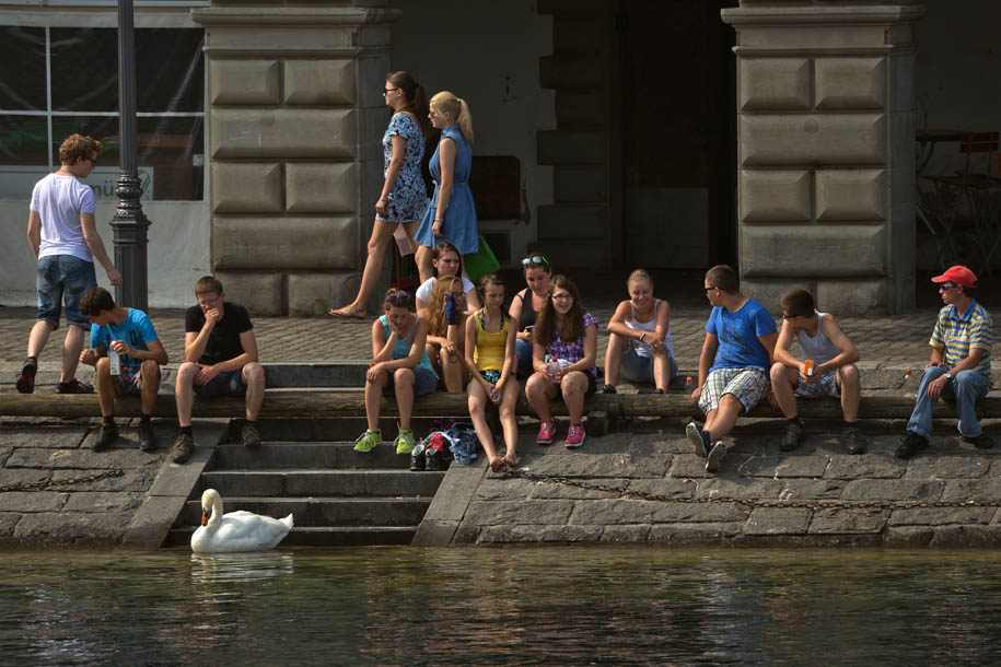 'Relaxing on the Bank' (Jun 2014) - Lucerne, Switzerland